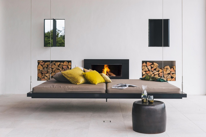 Escea's outdoor gas heaters and wood fireplaces allow you to enjoy the crisp fresh air while staying warm.
