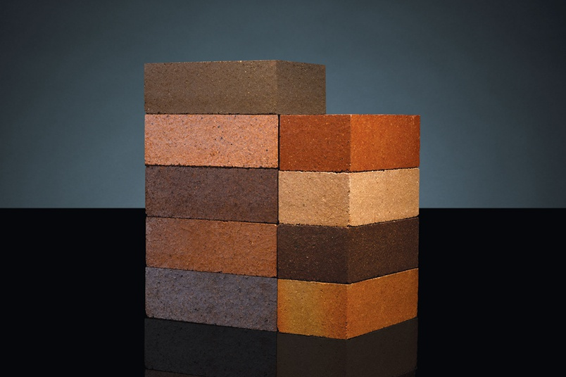 Dry pressed solid clay bricks from PGH Bricks & Pavers.