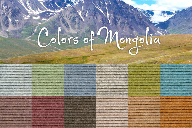 Colours of Mongolia – 12 new Tretford Colours.