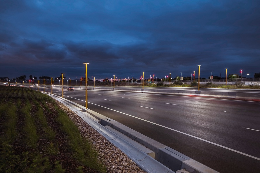 Lighting Changes Melbourne S Major Airport Link To The
